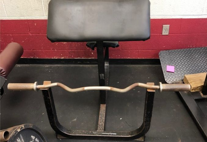 Preacher Bar with bench