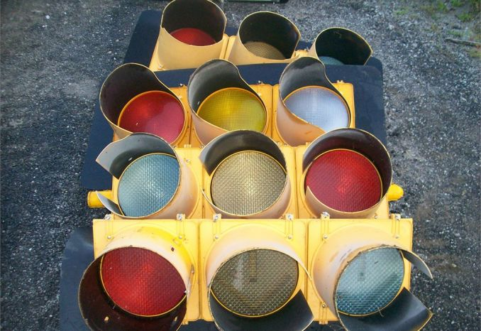 LOT OF TRAFFIC LIGHTS