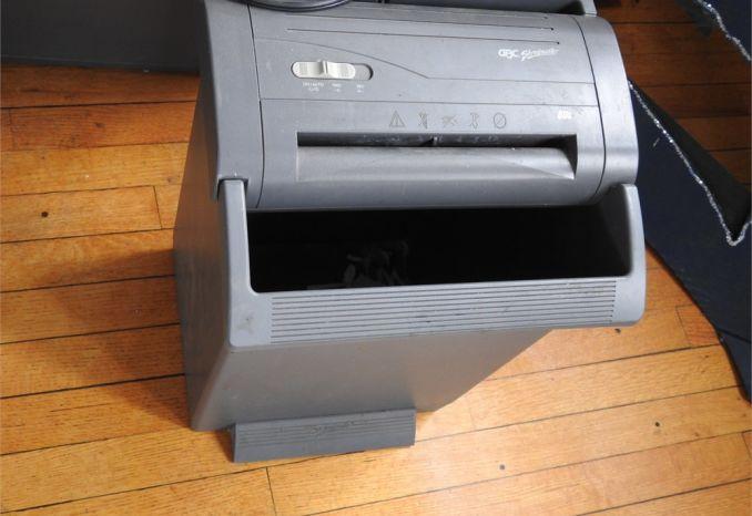 Shredder & Modular Filing Cabinet