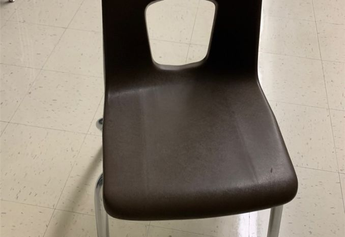 Lot of 55 Brown 17-inch Chairs