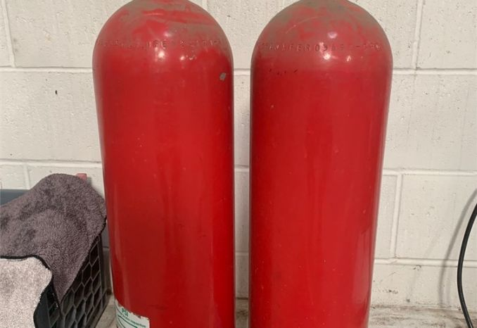 2 Out of Date Scuba Tanks