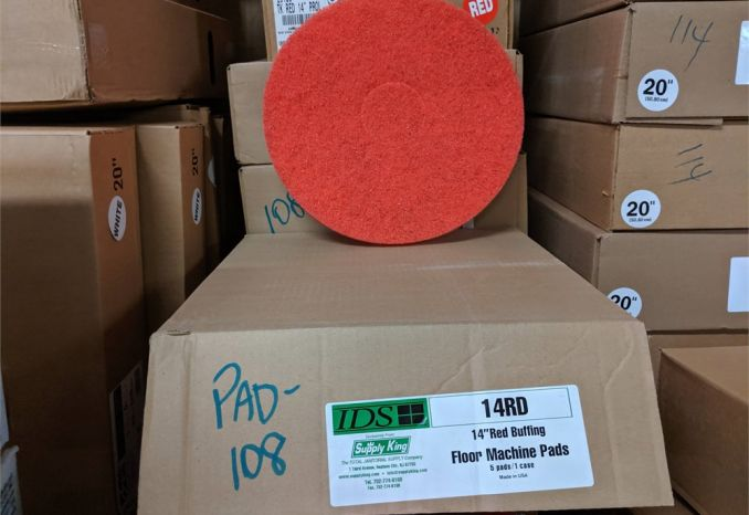 "14RD 14"" RED BUFFING PADS PAD 108"