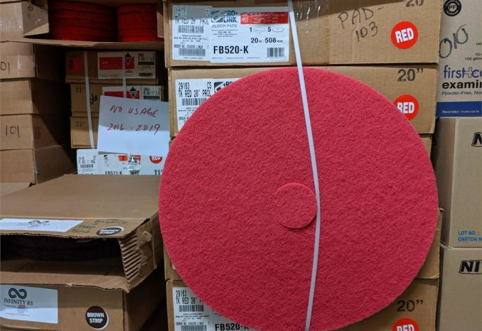 "FB520-K  20"" red floor pads"