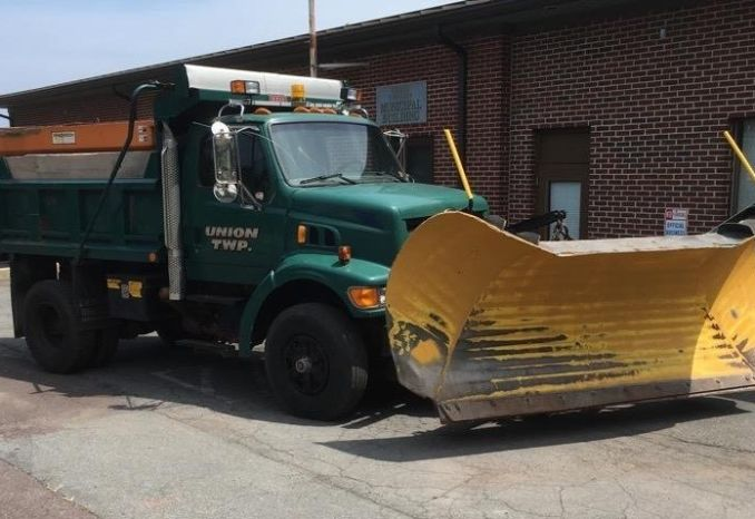 1998 Ford Sterling Dump Truck w/Plow & Salt Spreader