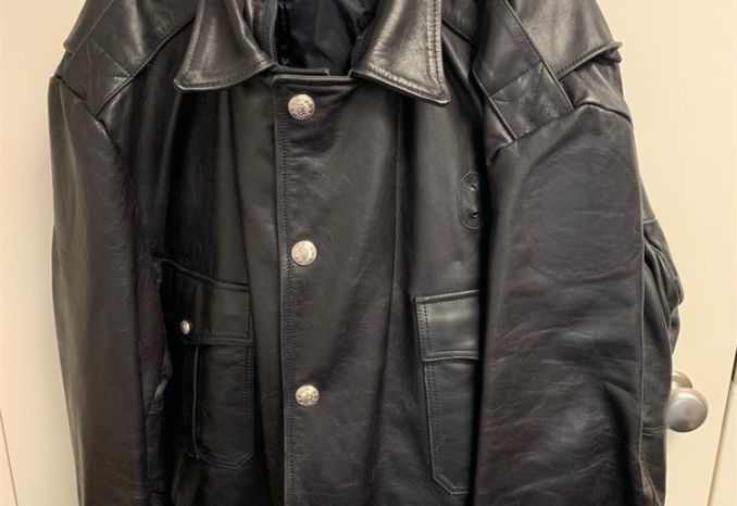 Waist Length Leather Coat