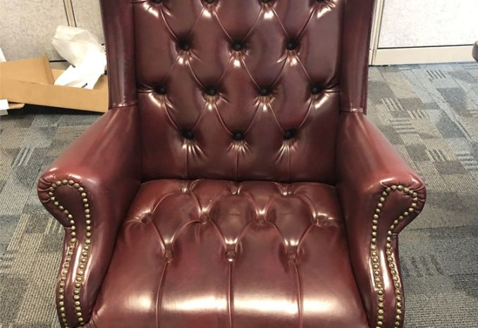 Leather wingback office/accent chairs