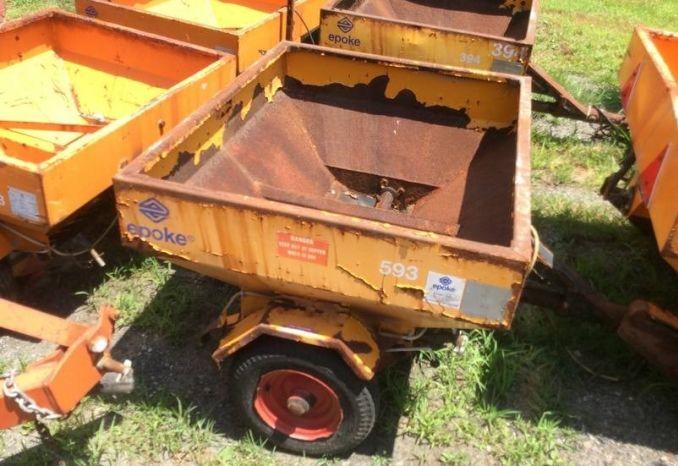 """Epoke Drop Sander wheel driven (Box 3'7""""x 3')  #394"""