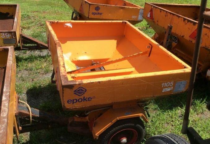 """13)Epoke Drop Sander wheel driven (Box 3'7""""x 3')  #1105"""