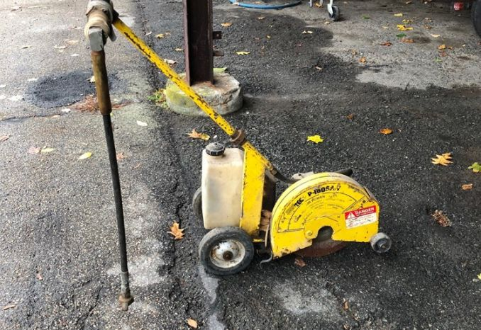 2 Used walk behind Air Powered Street Saws