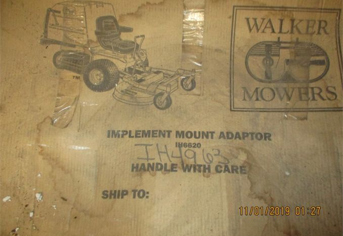 Walker Mowers Implement Mount Adapters