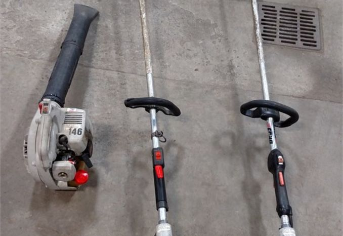 Two Echo Grass Trimmers and a Echo Blower