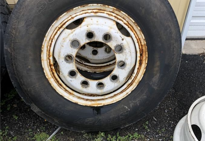 Assortment of tires and wheels