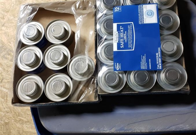 19 cans of sterno