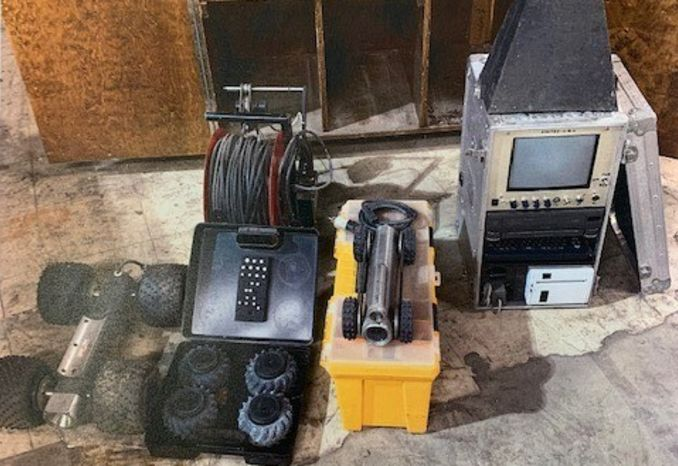 1992 Vistec Sewer Robotic Pipe Camera and Supplies