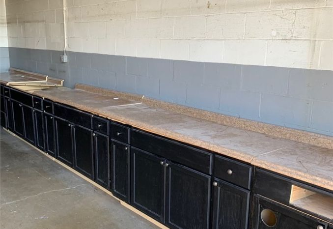 Used Kitchen counter tops and cabinets.