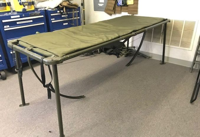 Qty 5, Military Folding Field Bed