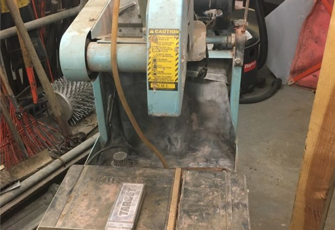 "Used ""TARGET"" electric powered wet saw"