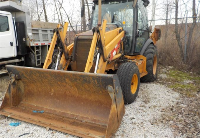 2007 CASE 590 SUPER M  BACKHOE W/CLAM BUCKET / LOT782-070014-NR