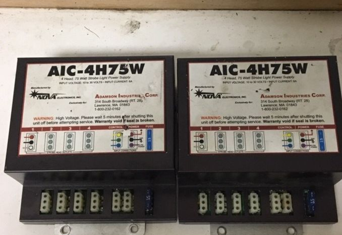 NOVA AIC-4H75W 4 Head Strobe Power Supply