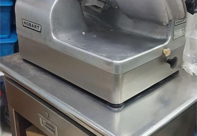 Hobart Meat Slicer & Storage Cart