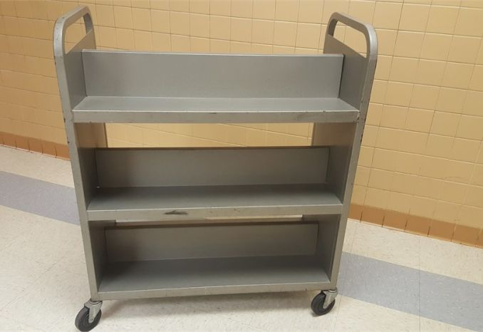Metal Book Cart