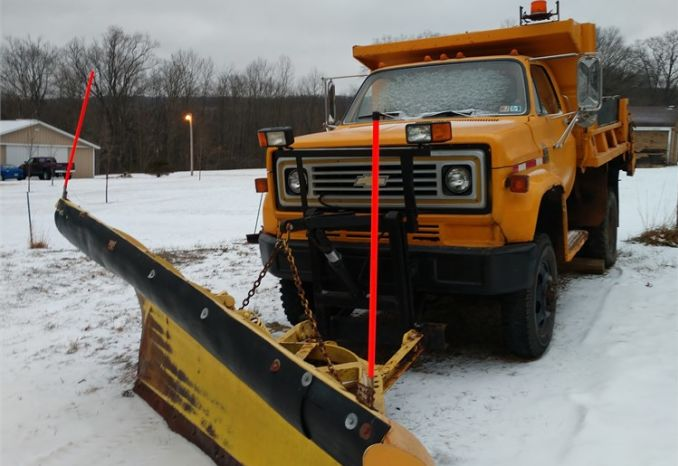 1978 Chevrolet C 60 Dump Truck with Snow Plow