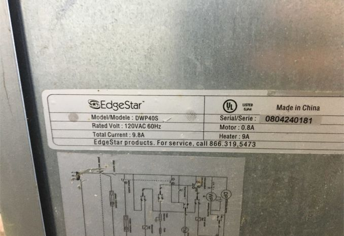 Edgestar DWP40S compact dishwasher (unknown working condition)