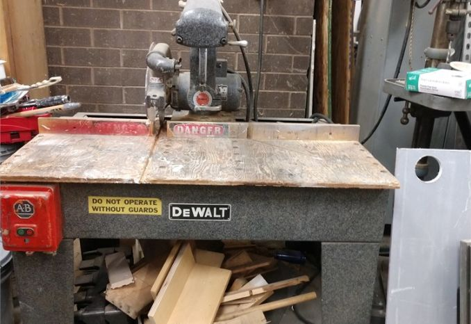 "DEWALT 12"" Radial Arm Saw"