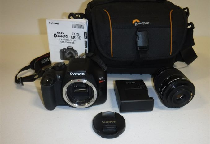 Canon Camera with Lowpro carrying bag (Used As-Is)