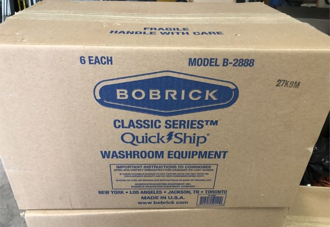 WE HAVE A LOT OF 36 BOBRICK TOILET PAPER DISPENSERS B-2888