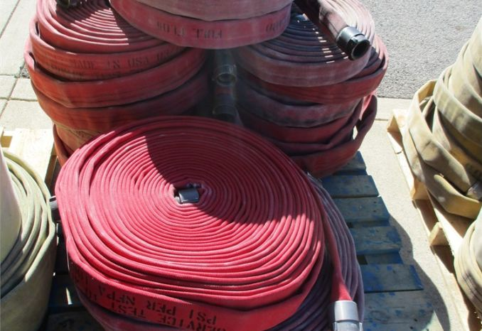 Pallet Of Red Fire Hose