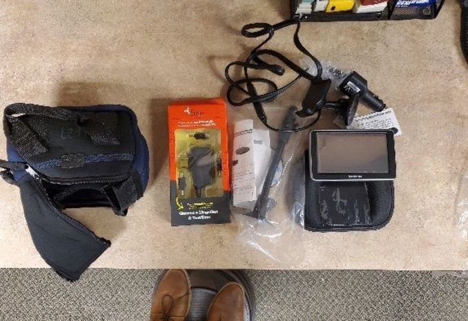 Garmin GPS with accessories