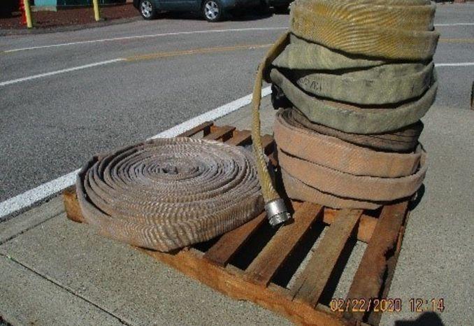 Pallet of Tan fire hose