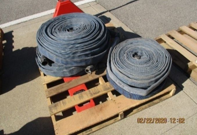 Pallet of Blue Fire hose