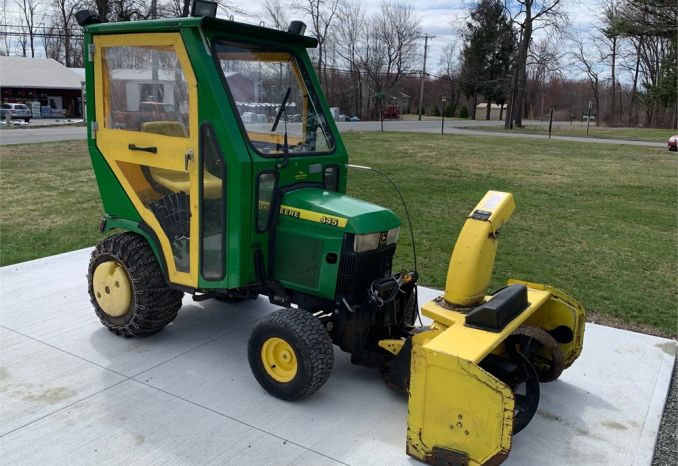 John Deere 445 Tractor with Snowblower