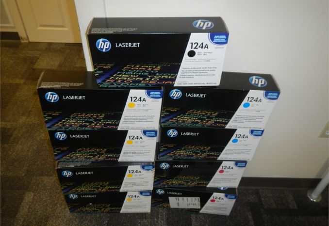 HP 124A toner cartridges