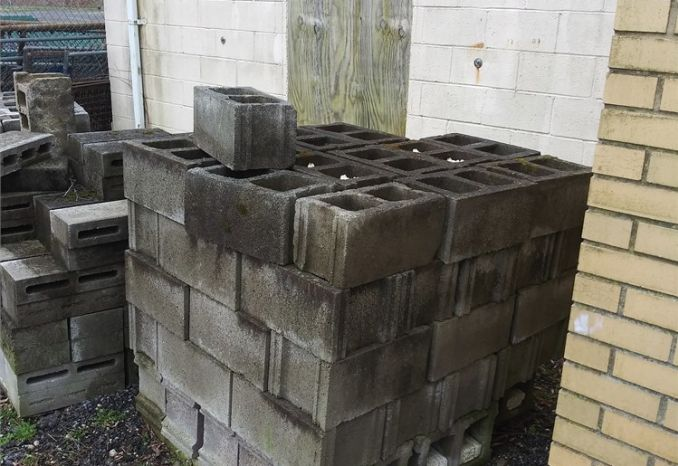 Lot of Cinder Blocks