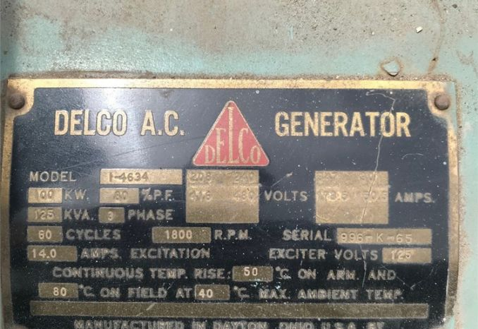 Delco Products A.C. Generator