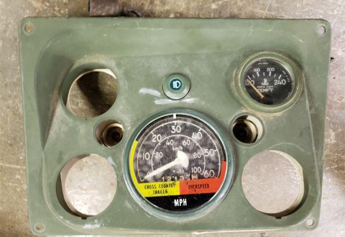 Military Humvee Instrument Panel