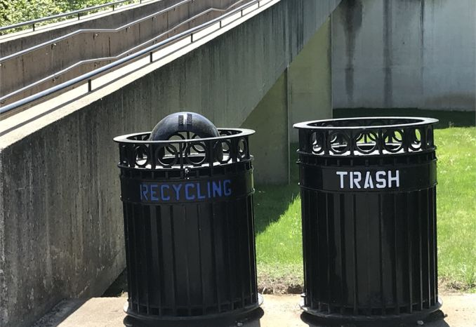 Exterior Steel Waste Bins