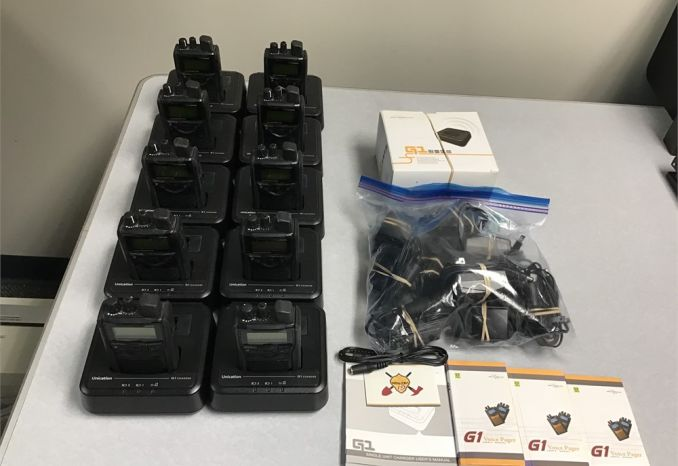 10 - 30-36 MHz Unication G1 pagers, desktop chargers
