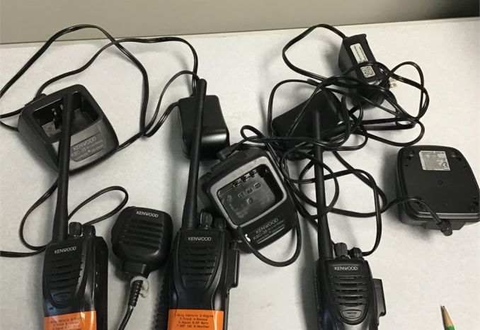 3 Kenwood TK2302 VHF portable radios and chargers