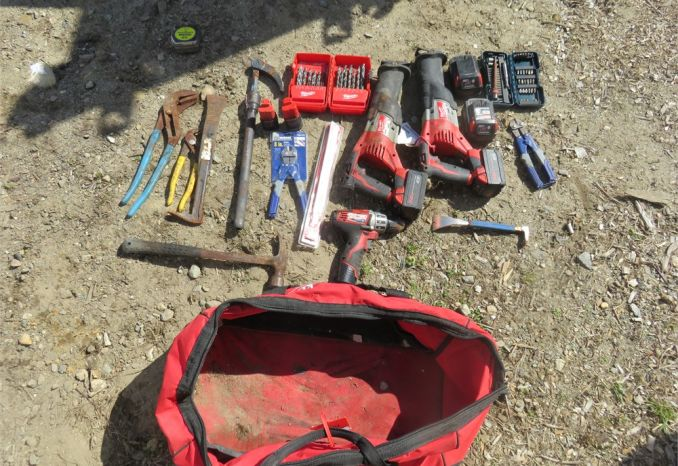 Tools and bag