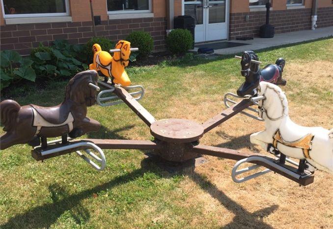 bounce horse playground equipment