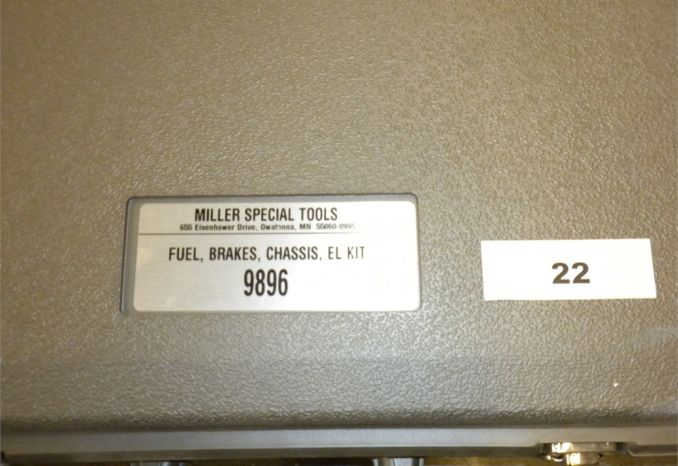 Miller Special Tools  #9896 Fuel, Breaks, Chassis EL Kit