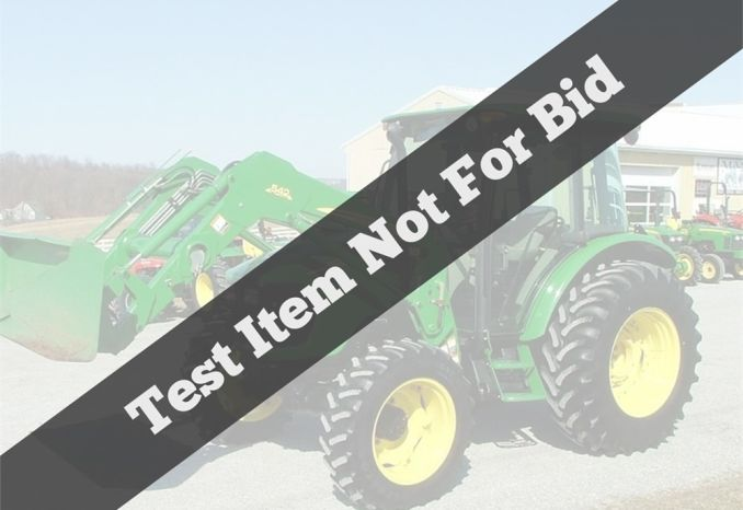 Test listing not for bid - 110kbf
