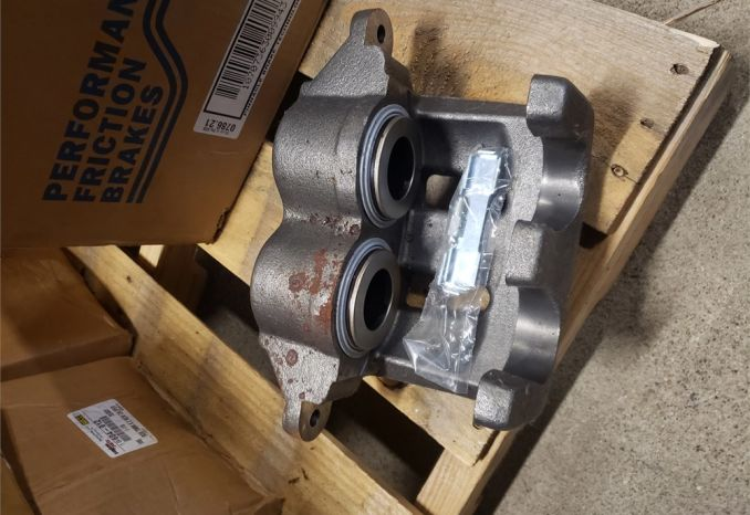 Bus brake calipers and pads