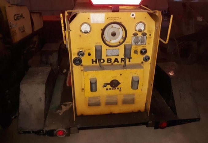 Hobart welder on trailer