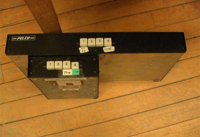 2 Pelco 4x1 video selector switches