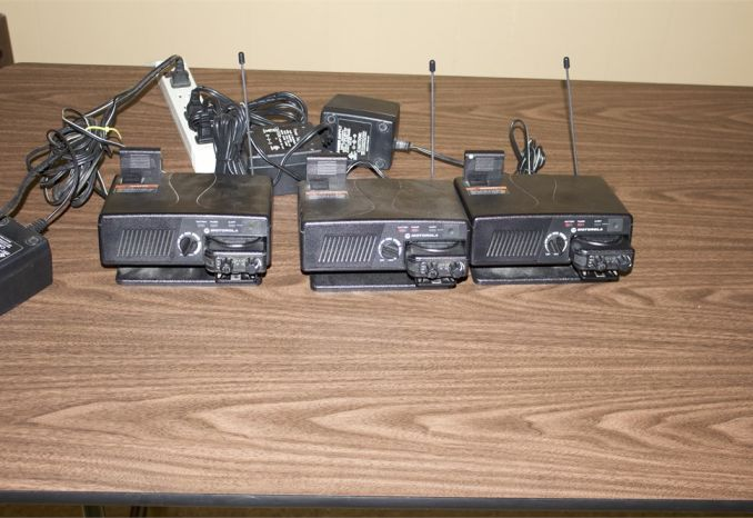 3 Motorola Minitor V Pagers Amplified Charging Racks & Batteries